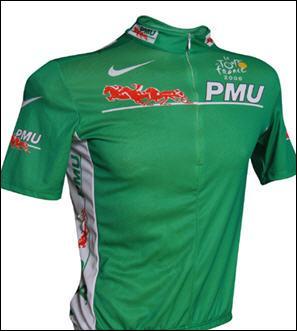 Quel coureur a terminé le plus grand nombre de fois maillot vert sur le Tour de France ?