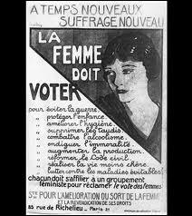 Les Françaises ont acquis le droit de vote en 1944 et l'ont exercé pour la première fois en 1945. En Belgique, ce droit leur a été octroyé en ….