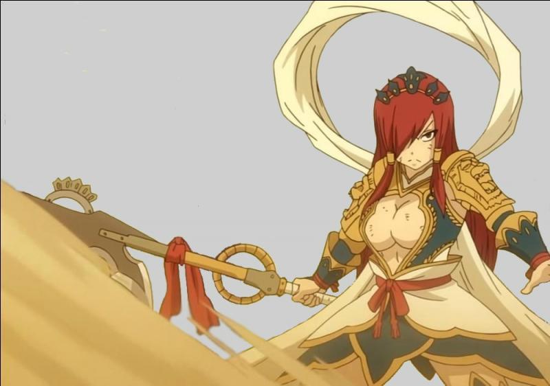 Et le meilleur pour la fin, quelle est cette armure qui sert à battre Minerva lors des grands jeux magiques ?