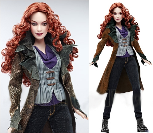 Quant à cette rousse flamboyante, qui apparaît dans trois des cinq films, personnalisée par deux actrices différentes toutefois, c'est ?
