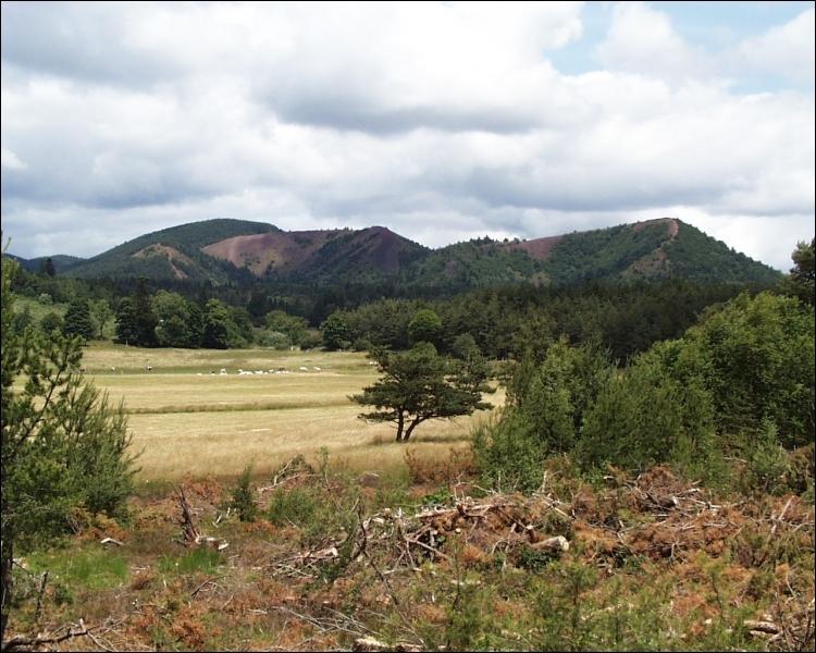 Le paysage verdoyant de la cheire d'Aydat doit sa végétation au basalte. Que signifie  cheire  ?