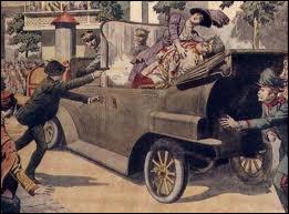 L'assassinat de François-Ferdinand, héritier de l'empire austro-hongrois, et son épouse, le 28 juin 1914, est considéré comme l'événement déclencheur de la Grande Guerre. Il s'agit donc de :