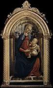 Art : dans le tableau  La Vierge à la roseraie  de Sandro Botticelli, quelle est la caractéristique du jardin situé derrière la vierge Marie ?
