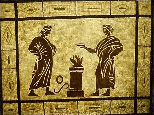 Quel nom donnait-on à l'abandon fait au feu des prémices de chaque mets ?