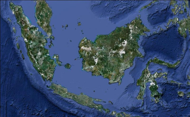 Laquelle de ces régions du monde est visible sur cette image satellite ?