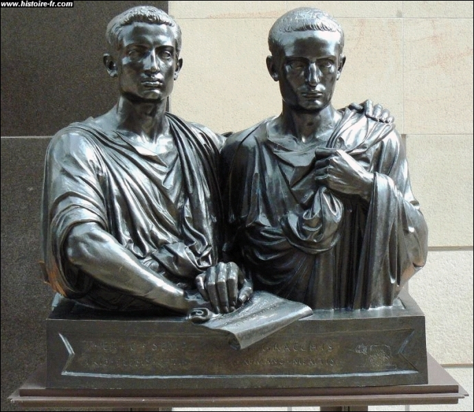 grachi tiberius gaius rome Best answer: tiberius and gaius gracchus (known to history as the gracchi) were brothers in 2nd century bc rome they were from a poor branch of a noble family,and attempted to introduce land reforms that would have confiscated land from the rich patrician nobles (who controlled the.