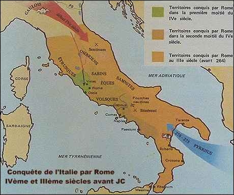 Au IIIe siècle, Rome est enfin maîtresse de toute l'Italie. Retrouvez la date.