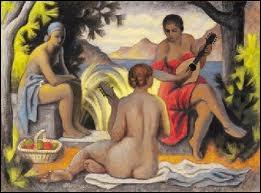 La leçon de musique au bord de l'eau, 1933