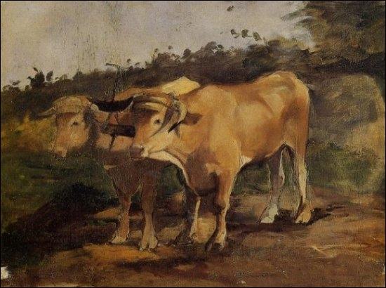 Deux boeufs sous le joug, 1881