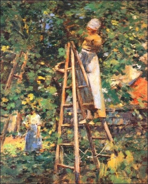 La cueillette des prunes, 1891