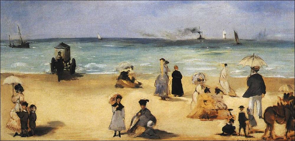 Sur la plage de Boulogne, 1868