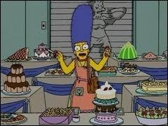 Avec qui Marge partage-t-elle la finale, quand elle participe à un concours de cuisine ?