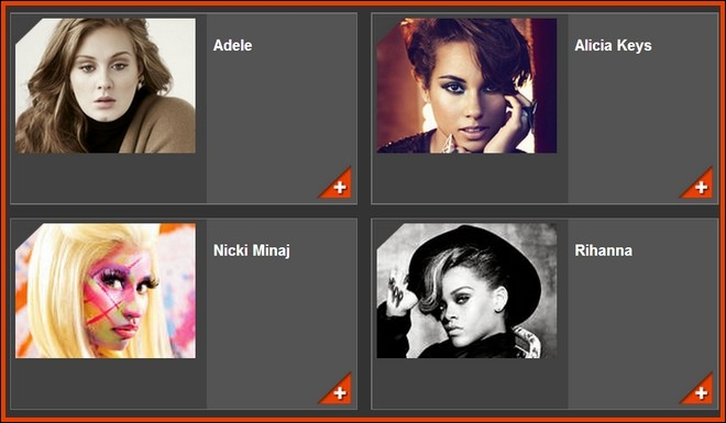 Qui a été élue Artiste féminine internationale ?