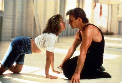 Le couple Patrick Swayze et Jennifer Grey dans le film !