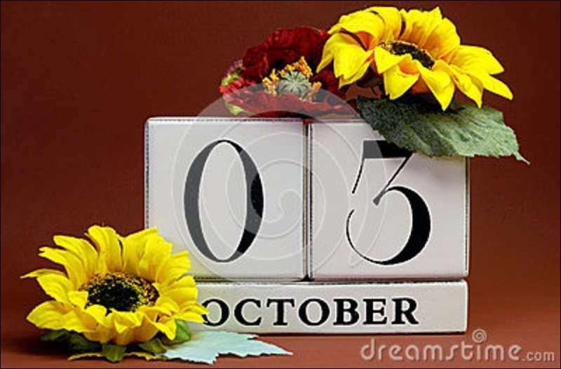Le 3 octobre est la fête de :