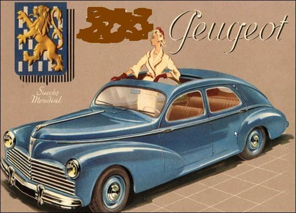 Ce modèle unique d'automobile de tourisme Peugeot fut commercialisé jusqu'en 1959. Quand avait-il fait son apparition sur le marché ?