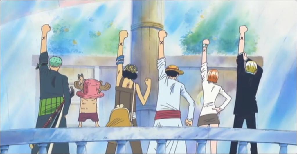 Où retrouve t-on le signe d'une croix (ou ce qui y ressemble) dans One Piece ?