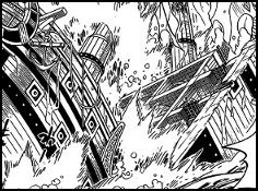 Quels sont ceux qui à proprement parler ont une technique capable de couper en deux un bateau de style galion ?