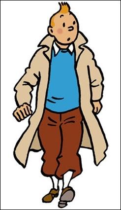 De quelle couleur est le chien de Tintin ? Il est. .