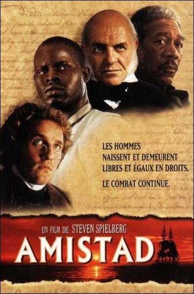 Dans  Aminstad , drame historique sur l'esclavage réalisé en 1997, quel rôle joue Morgan Freeman ?