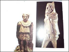 """Portraits de Gaulois. À gauche, l'homme porte 1 large blouse à manches. Statuette de bronze à droite : homme vêtu d'1 """"sorte de pèlerine à capuchon"""". Quel nom porte-t-elle ?"""
