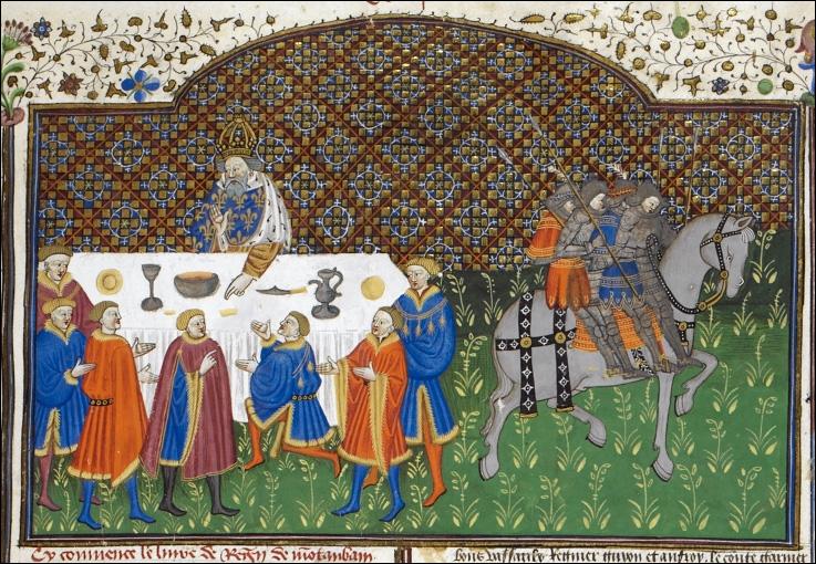 Les Chroniques de Saint Gall nous apprennent que Charlemagne se montrait plutôt d'une grande sobriété alimentaire. Que lui servit un évêque chez qui le roi s'était invité un vendredi jour de jeûne ?