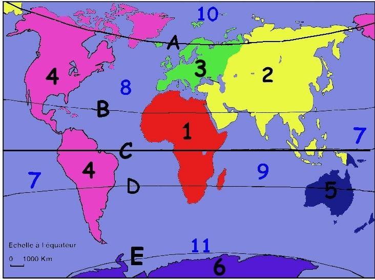 Géographie (niveau 6ème)