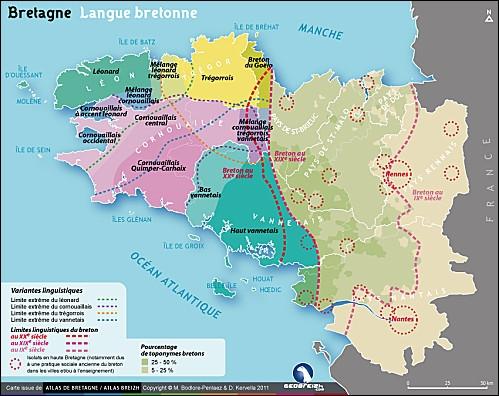 [Langues] Comment appelle-t-on le dialecte français parlé en Bretagne ? (une seule réponse vraie)
