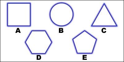 Quelle lettre représente un hexagone ?