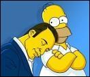 Qui est la personne qui s'est endormie sur Homer Simpson ? Indice : sa femme est Alexandra Lamy, il a aussi tourné dans de nombreux films comme  Brice de Nice ,  Lucky Luke  et  Le Bruit des glaçons .