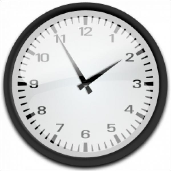 Quelle heure est-il sur cette image ? © quizz.biz