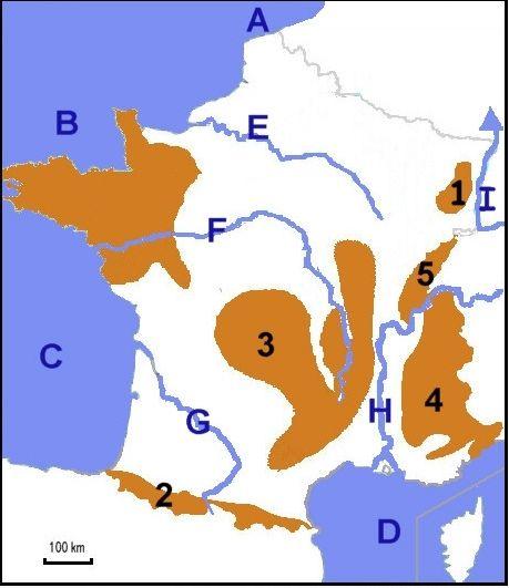 Géographie de la France (niveau 6ème)