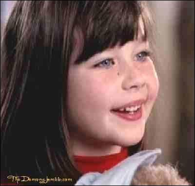 Quel rôle joue cette petite fille ?