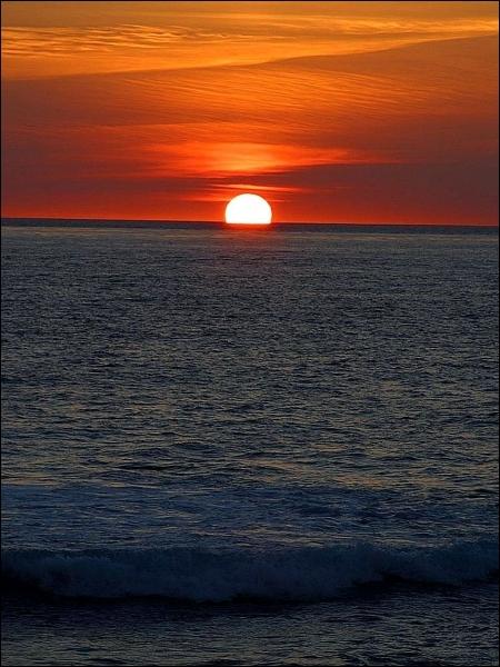 Comment se traduit  le coucher de soleil  en anglais ?