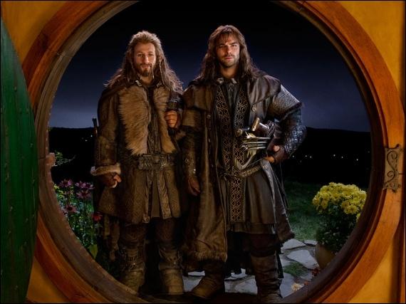 Qui sont les nains frères qui arrivent ensemble chez Bilbon au début du film ?