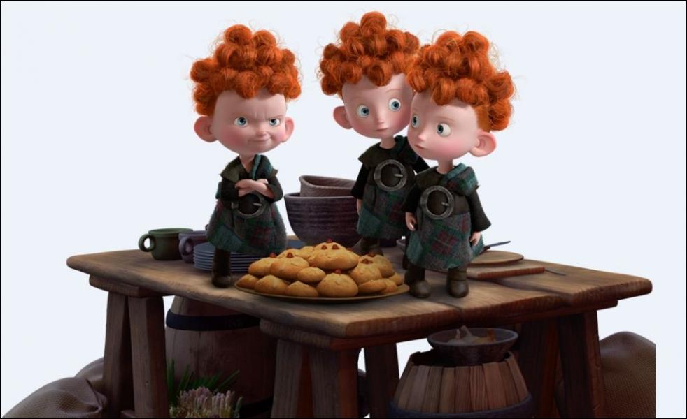 Pourquoi dans  Rebelle  les trois petits garçons se retrouvent-ils transformés en ours ?