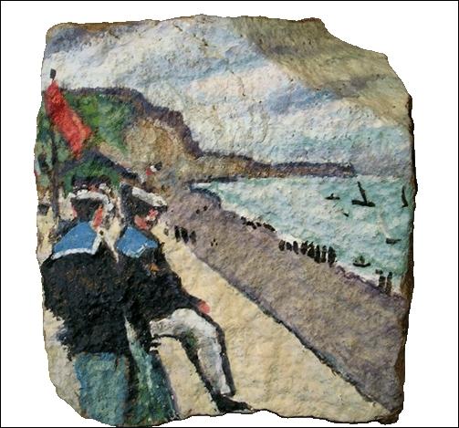 Peinture inspirée d'un tableau d'Albert Marquet 1875-1947. Quel est le support de cette reproduction ?