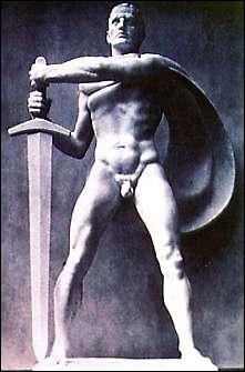 Autre sculpteur qui exalte la musculature germanique, voici ...