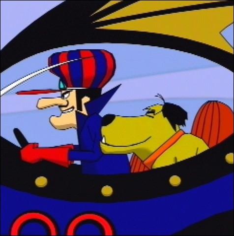 Dans la série télévisée d'animation  Les fous du volant  des années 60, quel nom portait le chien accompagnant le personnage principal  Satanas  ?