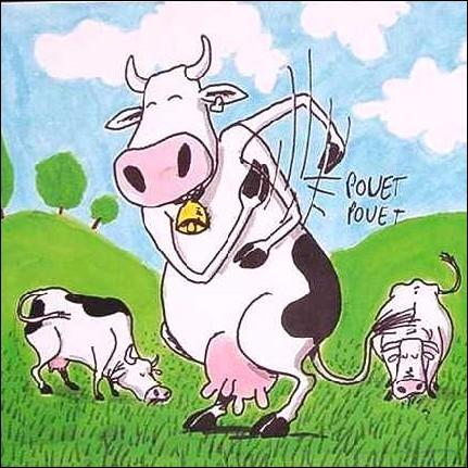 En quelle année la crise sanitaire puis socio-économique dite de  La Vache folle  se déclenche-t-elle en France ?