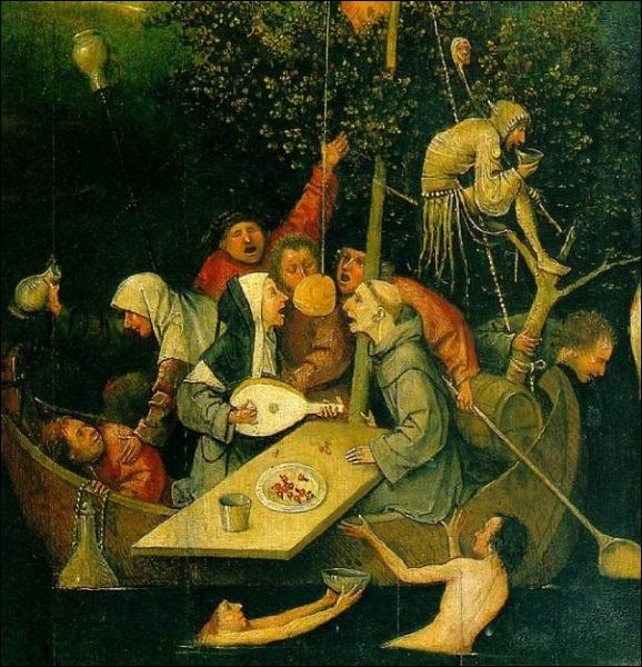 Quel peintre néerlandais a réalisé vers 1500 ce tableau intitulé  La Nef des Fous , visible au musée du Louvre ?