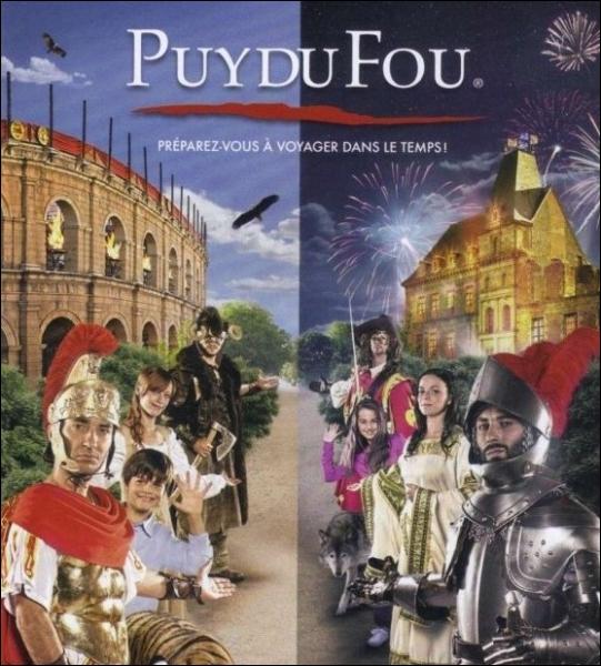 Sur quelle commune vendéenne est situé le parc de loisirs à thématique historique du Puy du Fou ?