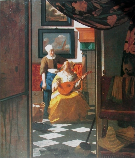 Qui a peint La lettre d'amour ?
