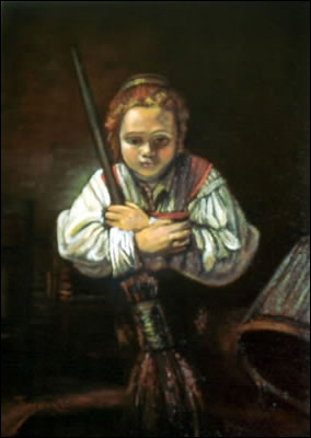 Qui a peint La petite fille au balai ?