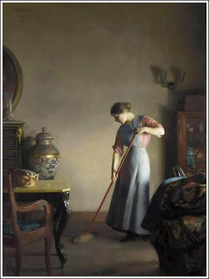 Qui a peint Femme balayant ?