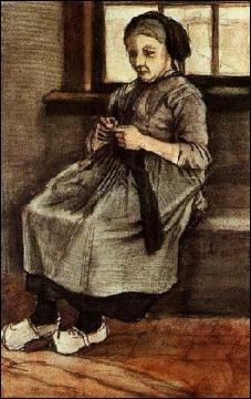 Qui a peint Femme reprisant un bas ?
