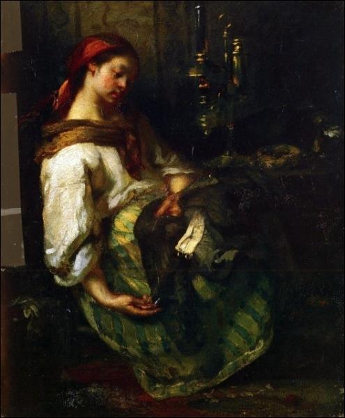 Qui a peint Couseuse endormie ?