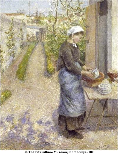 Qui a peint Jeune femme faisant la vaisselle ?