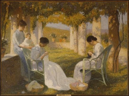 Qui a peint Les tricoteuses ?
