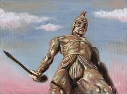 G�ant de bronze, gardien de La Cr�te bless� mortellement � la cheville par M�d�e :